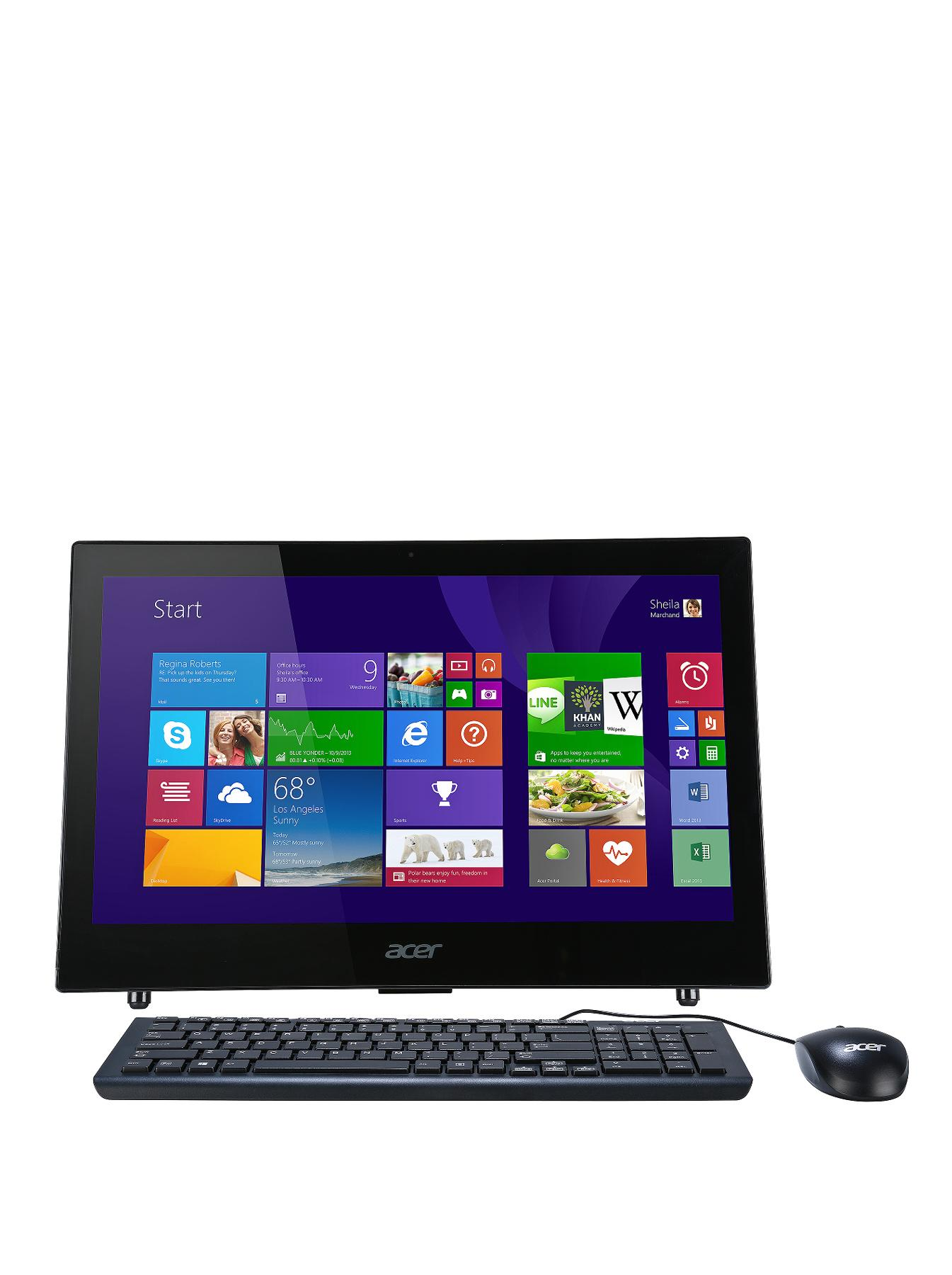 Acer Aspire Z1-601 Intel Celeron Processor, 4Gb RAM, 500Gb Hard Drive, Wi-Fi, 18.5 inch, All In One Desktop - Black