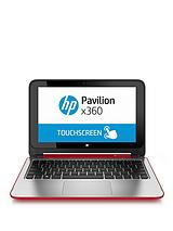 Pavilion 360 11-n012na Intel® Celeron® Processor, 4Gb RAM, 500Gb Hard Drive, Wi-Fi bgn + BT, 11.6 inch Touchscreen 2-in-1 Laptop - Red