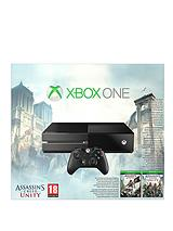 Console with Assassins Creed: Unity and Optional 3 or 12 Months Xbox Live