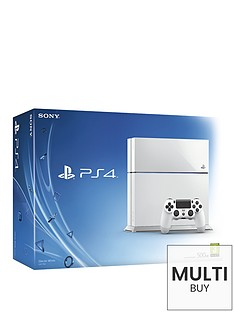 playstation-4-white-console-with-optional-controller-and-12-months-playstation-plus