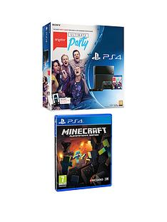 playstation-4-exclusive-console-bundle-with-singstar-ultimate-party-ps4-camera-and-minecraft-with-optional-3-or-12-months-playstation-plus