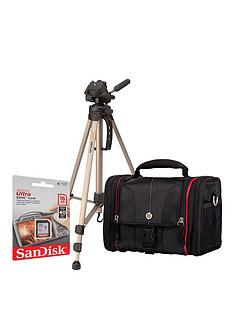 canon-dslr-gadget-bag-and-16gb-memory-card-kit-and-tripod