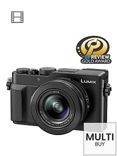 panasonic-claim-pound100-cashback-dmc--lx100-ebk-128-megapixel-compact-camera-with-4k-video-wifi-black