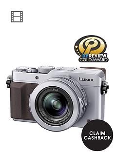 panasonic-pound50-cashbacksup1-dmc--lx100-ebs-128-megapixel-compact-camera-with-wifi-silver
