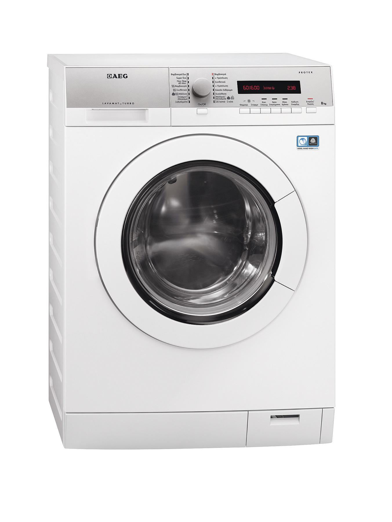 AEG L77685WD 8+6kg Load, 1600 Spin Washer Dryer - White