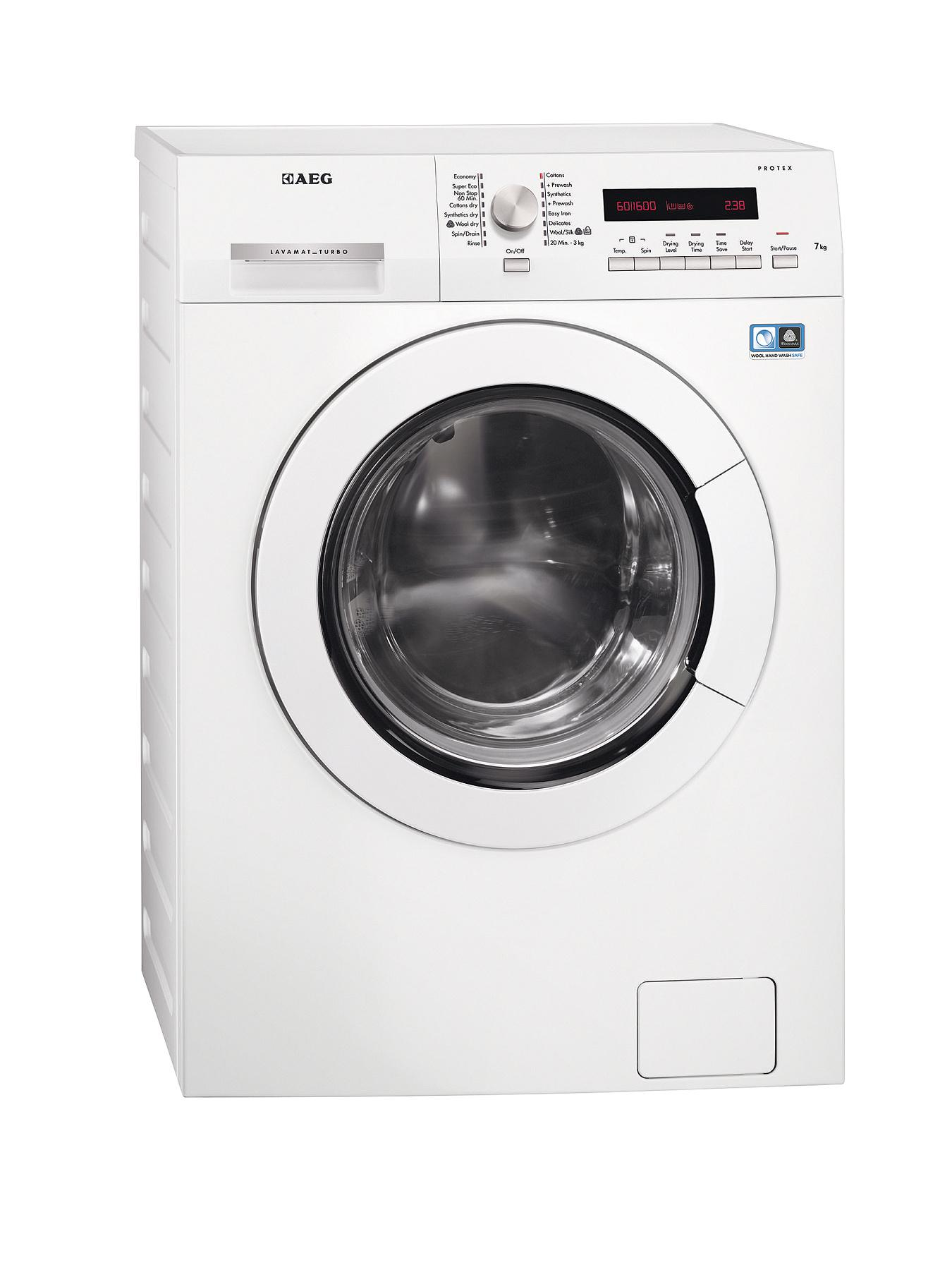 AEG L75670WD 7+4kg Load, 1600 Spin Washer Dryer - White