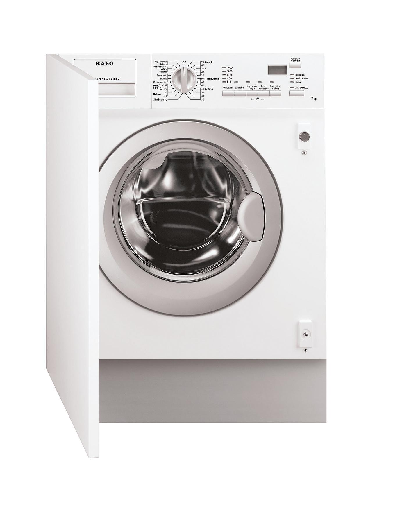 AEG L61470WDBI 7kg Wash, 4kg Dry, 1400 Spin Integrated Washer Dryer