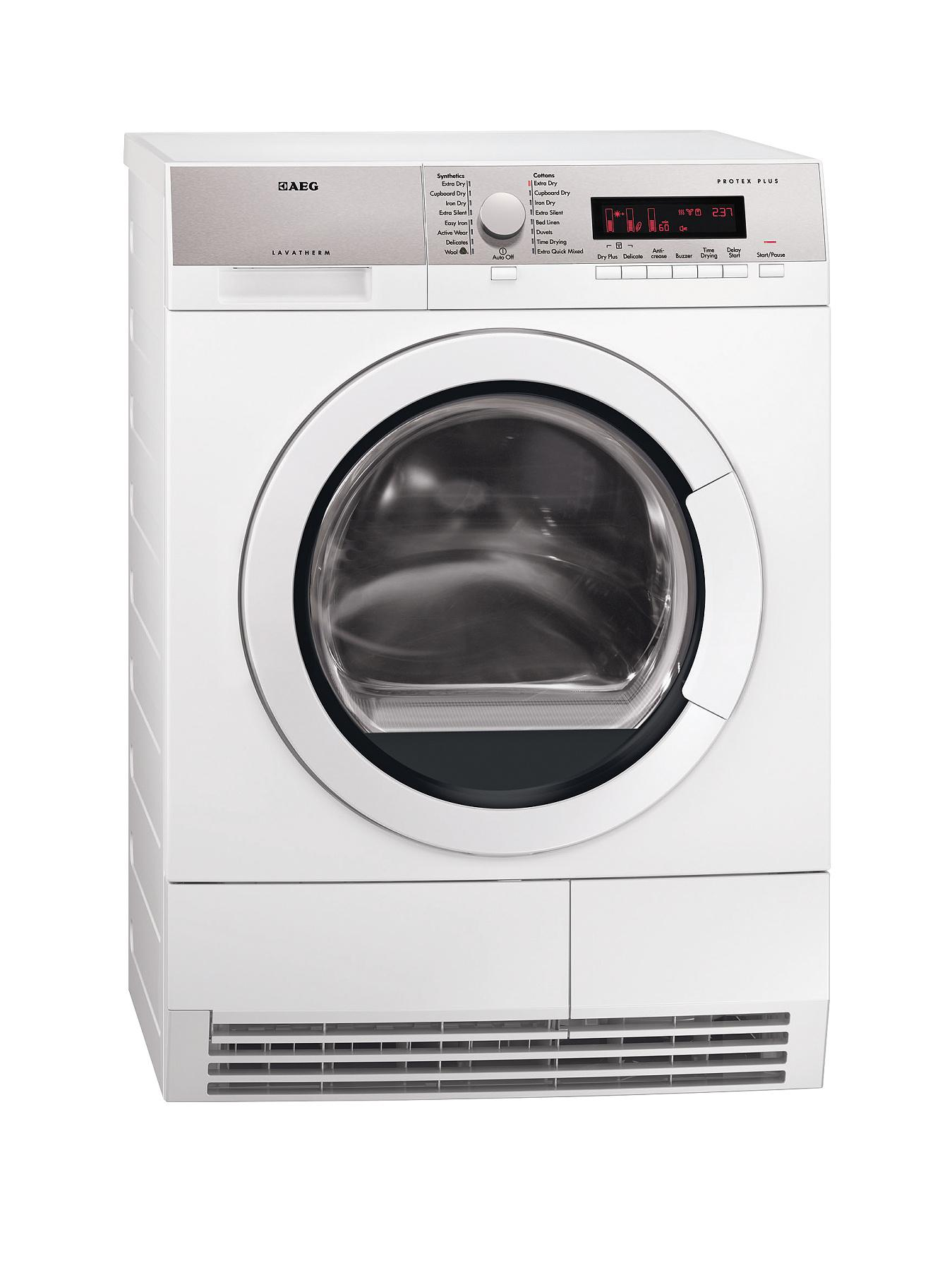 AEG T86280IC 8kg Load Condenser Sensor Dryer - White
