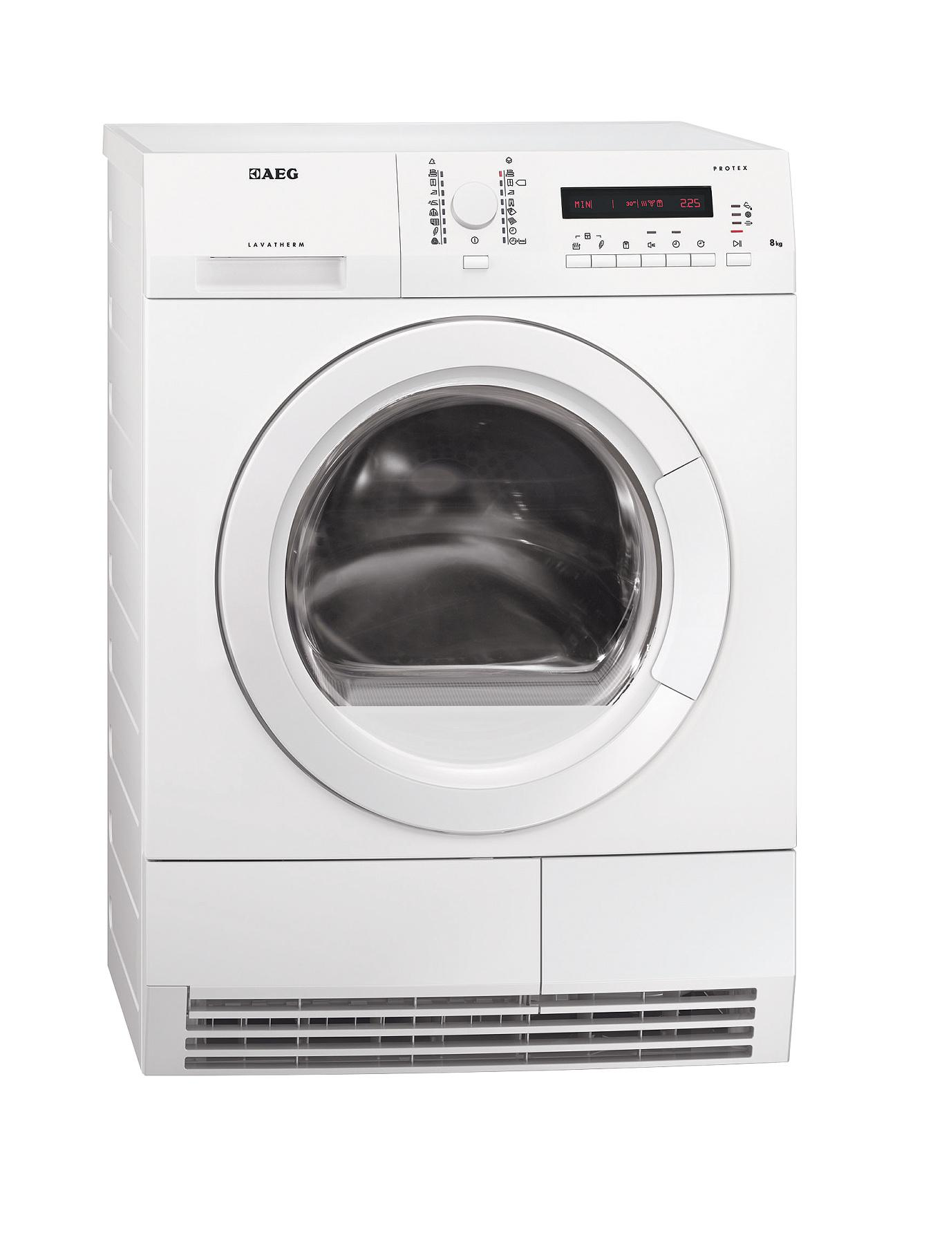 AEG T76280AC 8kg Load Condenser Sensor Dryer - White