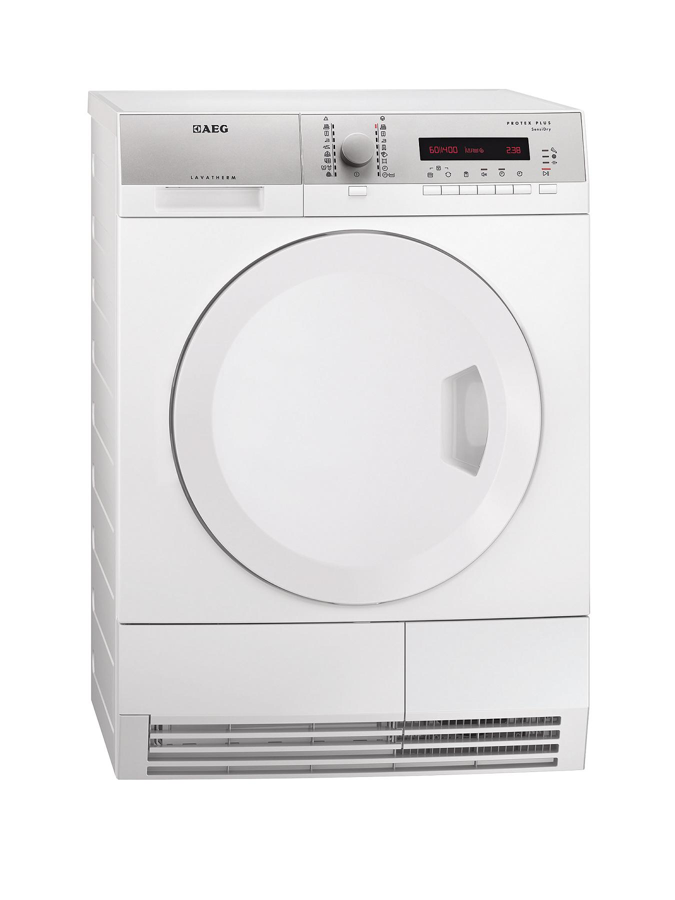 AEG T75380AH2 8kg Load Heat Pump Condenser Sensor Dryer - White