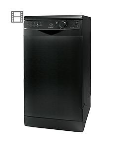 indesit-dsr15bk-10-place-freestanding-slimline-dishwasher-black