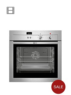 neff-b14m42n3gb-built-in-single-electric-oven-stainless-steel