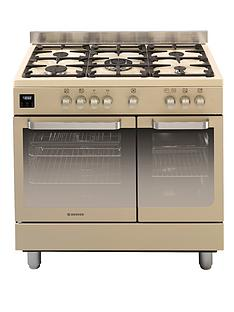 hoover-hgd9395iv-90cm-fuel-range-cooker-twin-cavity-ivory