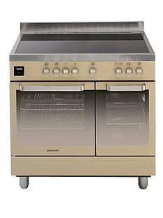 hoover-hvd9395iv-90cm-electric-range-cooker-with-ceramic-top-ivory