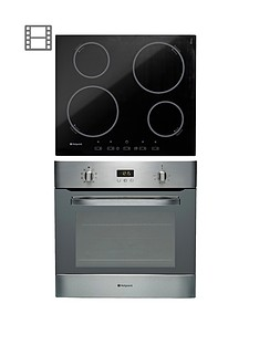 hotpoint-built-in-single-fan-oven-sh83cxs-and-ceramic-hob-cix644ce-pack