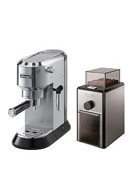 delonghi-ec680m-dedica-pump-machine-with-free-coffee-grinder-silver