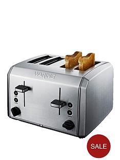 waring-wt400u-4-slice-toaster-brushed-stainless-steel