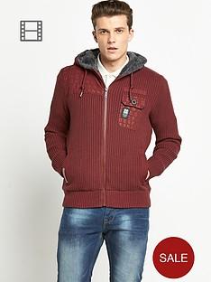 crosshatch-barkes-knitted-zip-cardigan