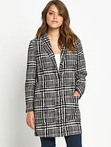 Checked Duster Coat