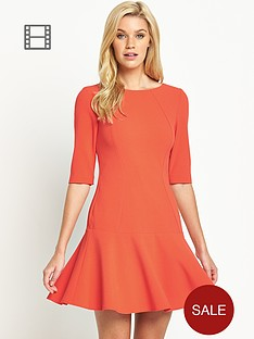 south-petite-pephem-dress-with-three-quarter-sleeves