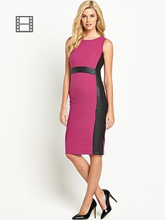 south-petite-pu-panelled-dress