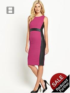 south-pu-panelled-dress