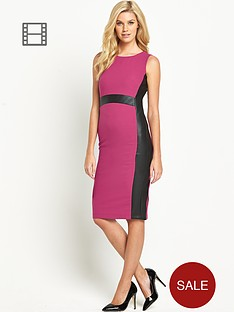 south-tall-pu-panelled-dress