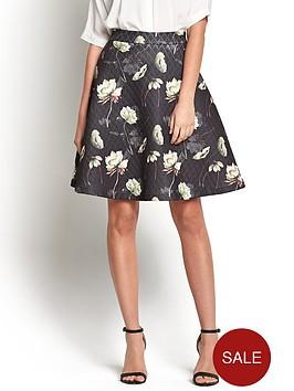 vila-garden-flared-knee-skirt