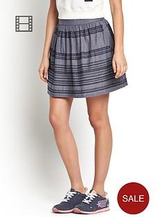 superdry-chambray-stitch-skater-skirt