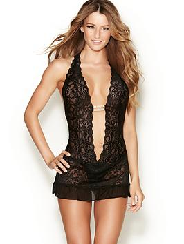 ann-summers-marydoll-plunge-lace-body-black