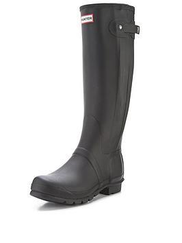 hunter-original-slim-zip-wellys-black