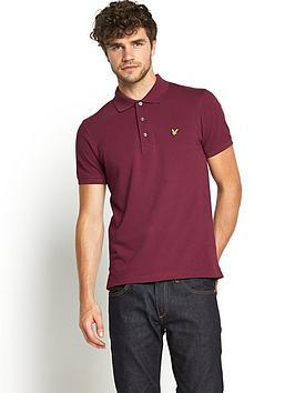 lyle-scott-mens-plain-piqueacute-polo-shirt-claret