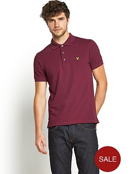 lyle-scott-mens-plain-piqueacute-polo-shirt-claret