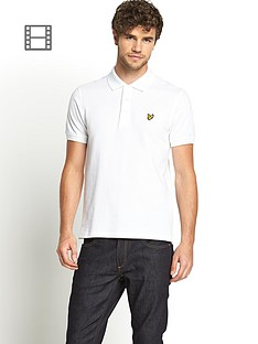 lyle-scott-mens-plain-pique-polo-shirt-white