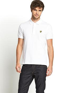 lyle-scott-mens-plain-pique-polo-white