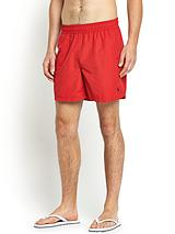 Mens Hawaiian Swim Shorts - Red