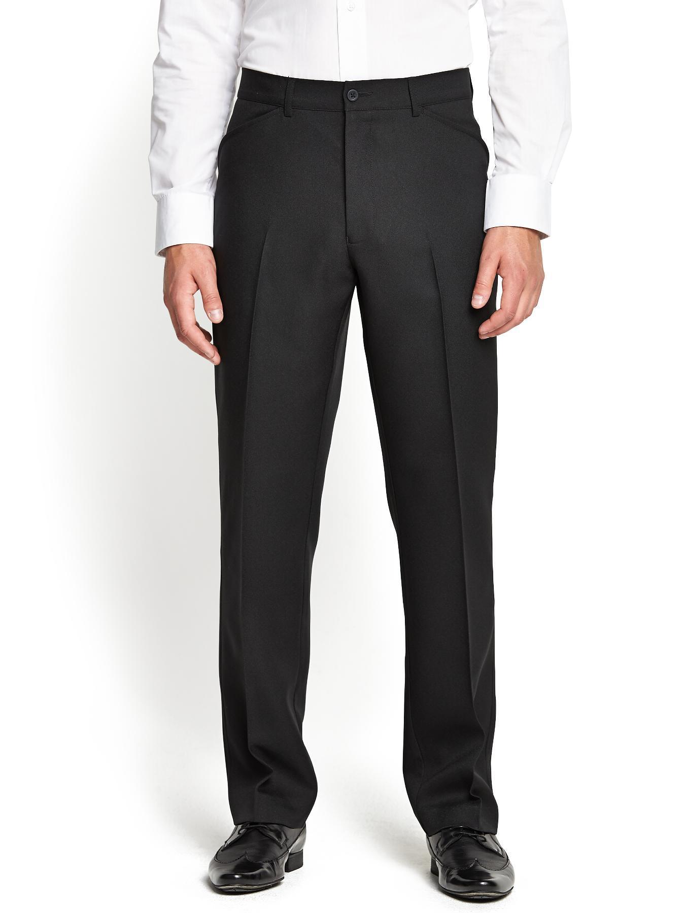 Farah Classic Mens Trousers - Black - Black, Black