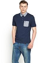 Paisley Collar Mens Polo Shirt
