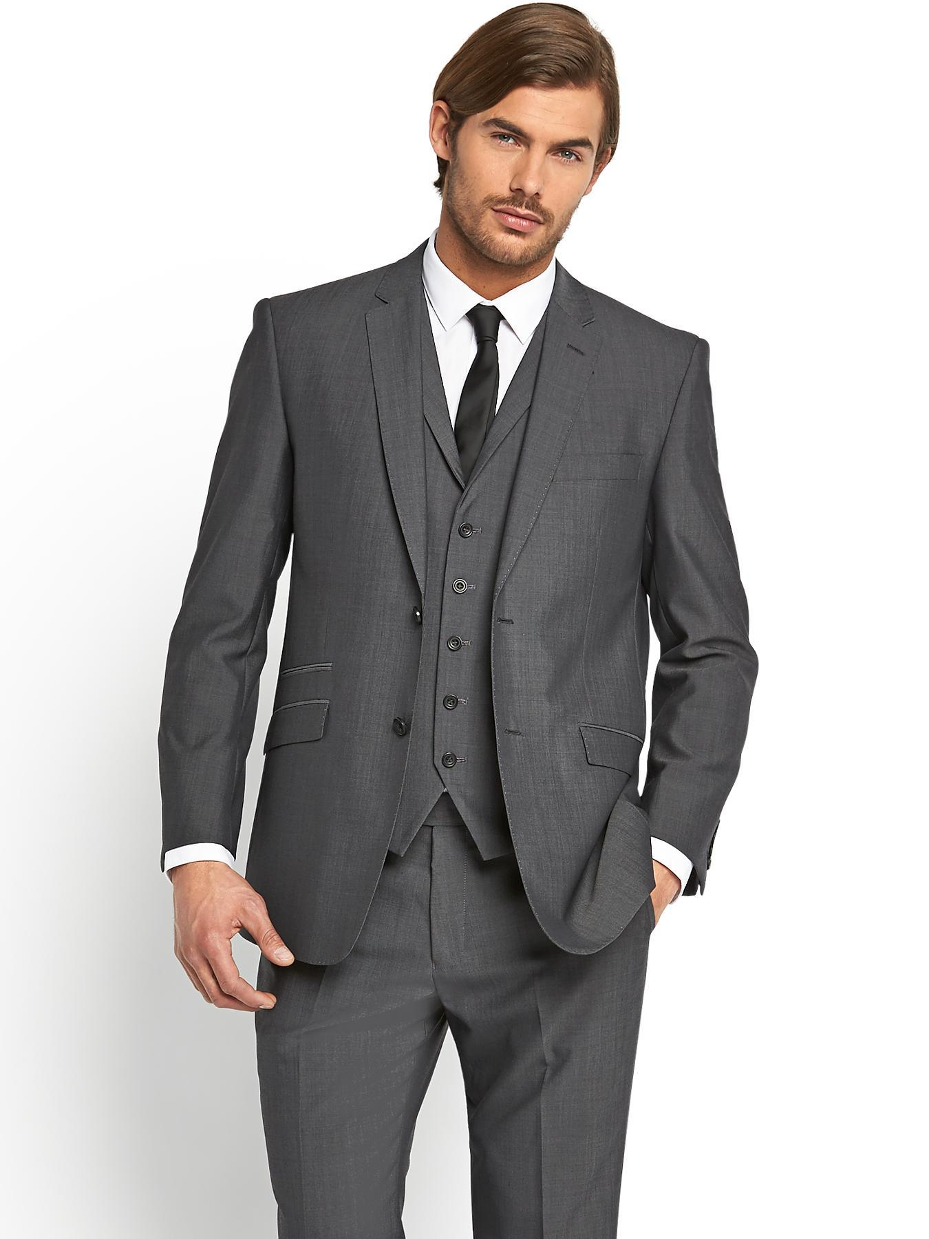 Skopes Mens Egan Suit Jacket - Grey - Grey, Grey