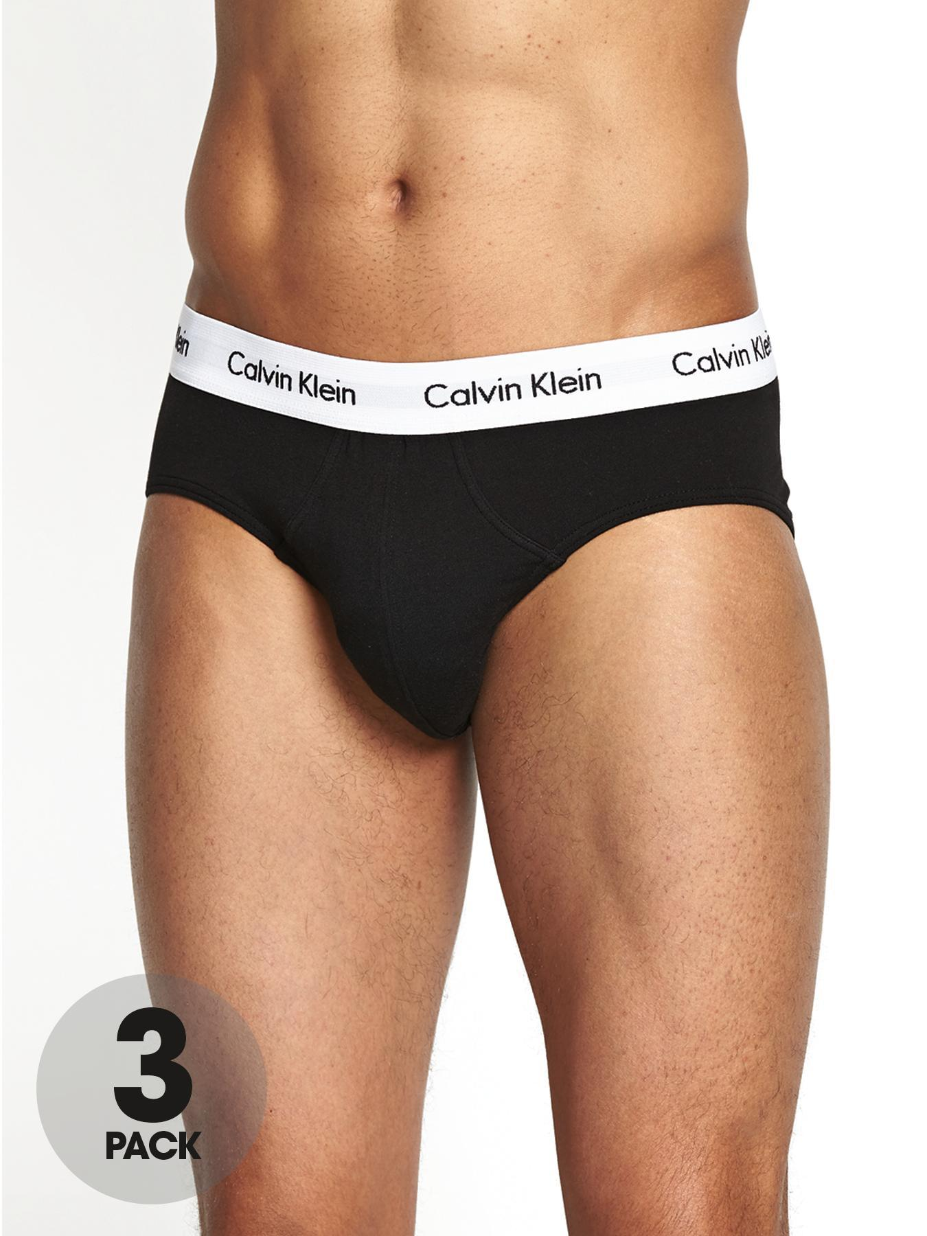 Calvin Klein Mens Briefs (3 Pack) - Black, Black