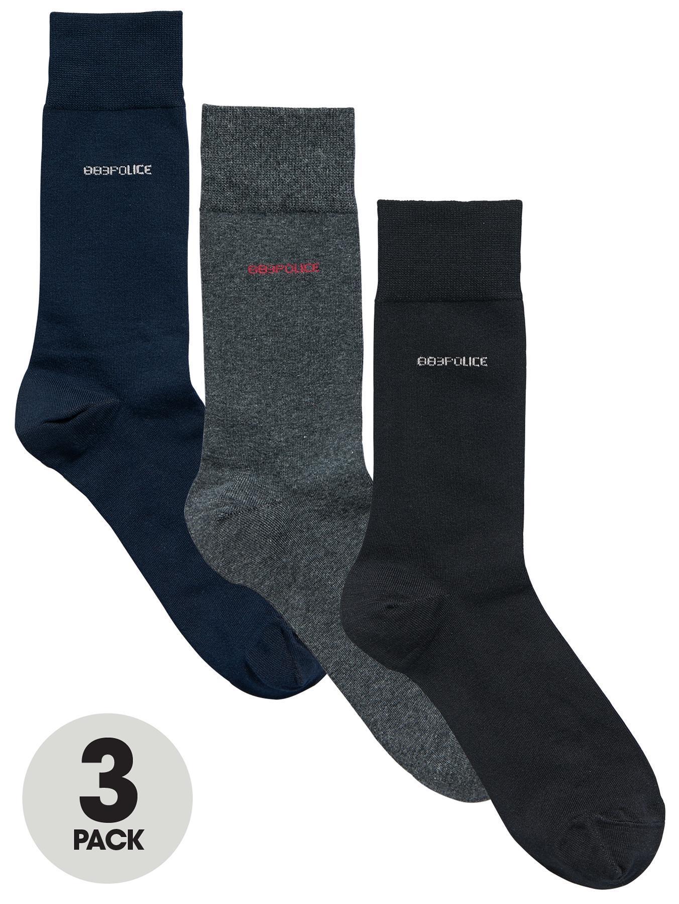 883 Police Deseo Socks (3 Pack) - Navy, Navy