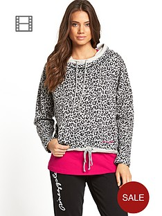 pineapple-leopard-print-hooded-top