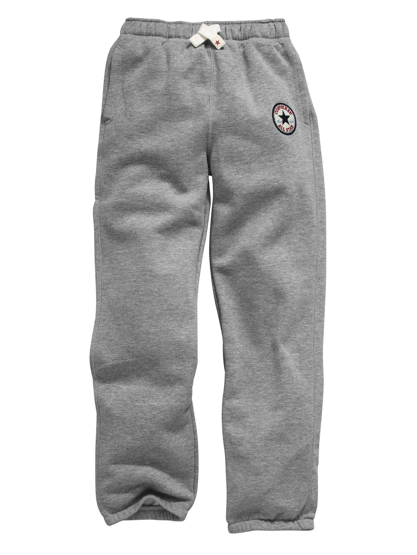 Converse Boys Chuck Patch Fleece Pants - Grey Heather - Grey, Grey
