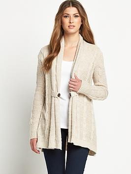 lipsy-cable-knit-open-front-cardigan