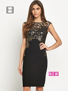 lipsy-foil-wax-lace-dress