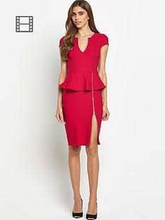 lipsy-zip-detail-peplum-dress