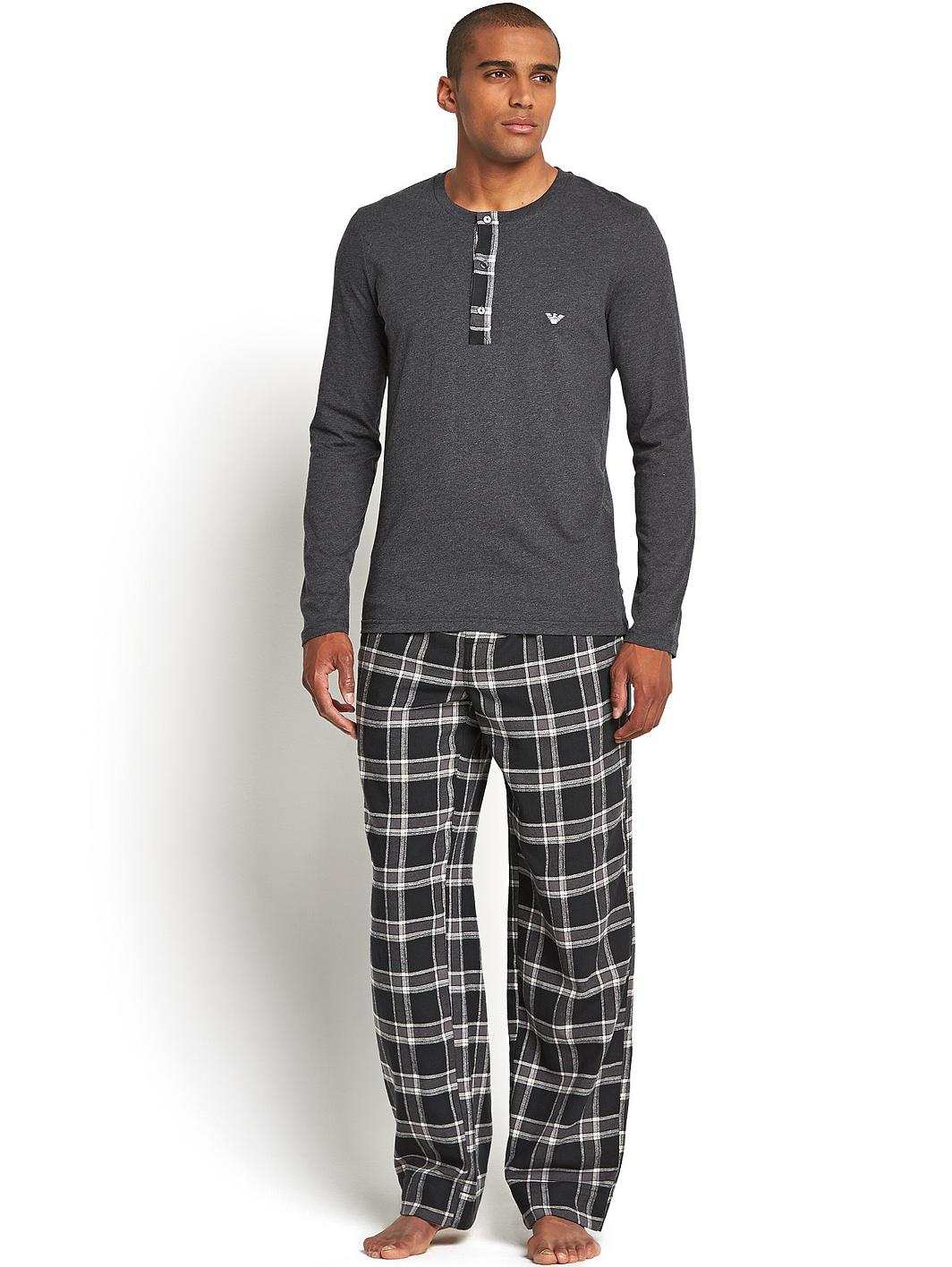 Stay comfortable at night with some men's pyjamas or nightwear. Soft trousers and long-sleeved tops will keep you cosy on chilly nights; switch to loose and light T .