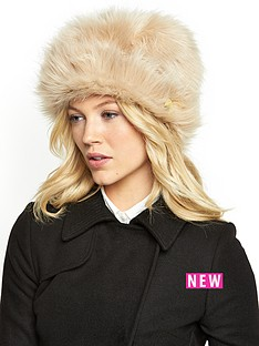 ted-baker-faux-fur-hat-taupe