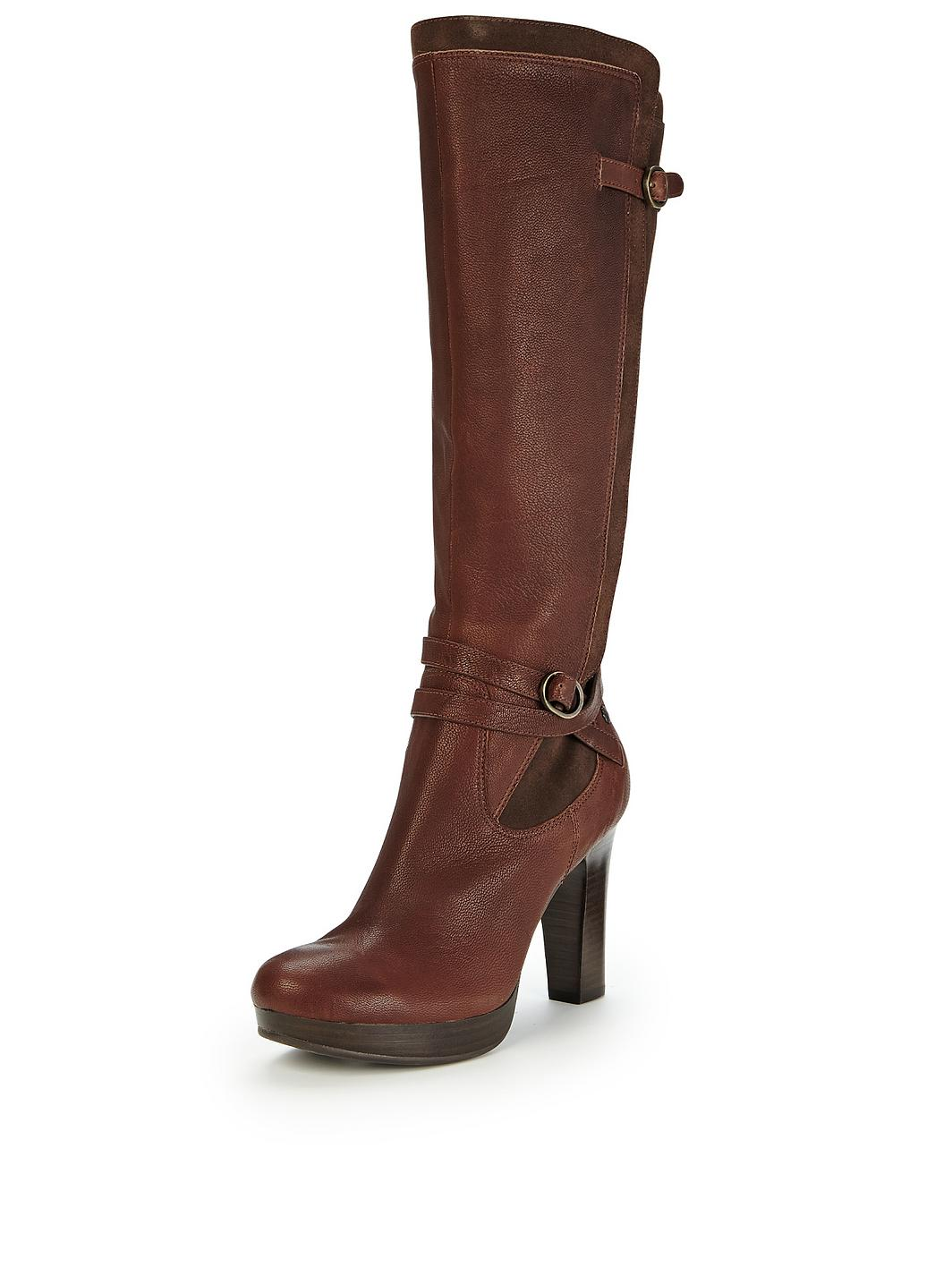 ugg australia linde heeled leather knee high boots