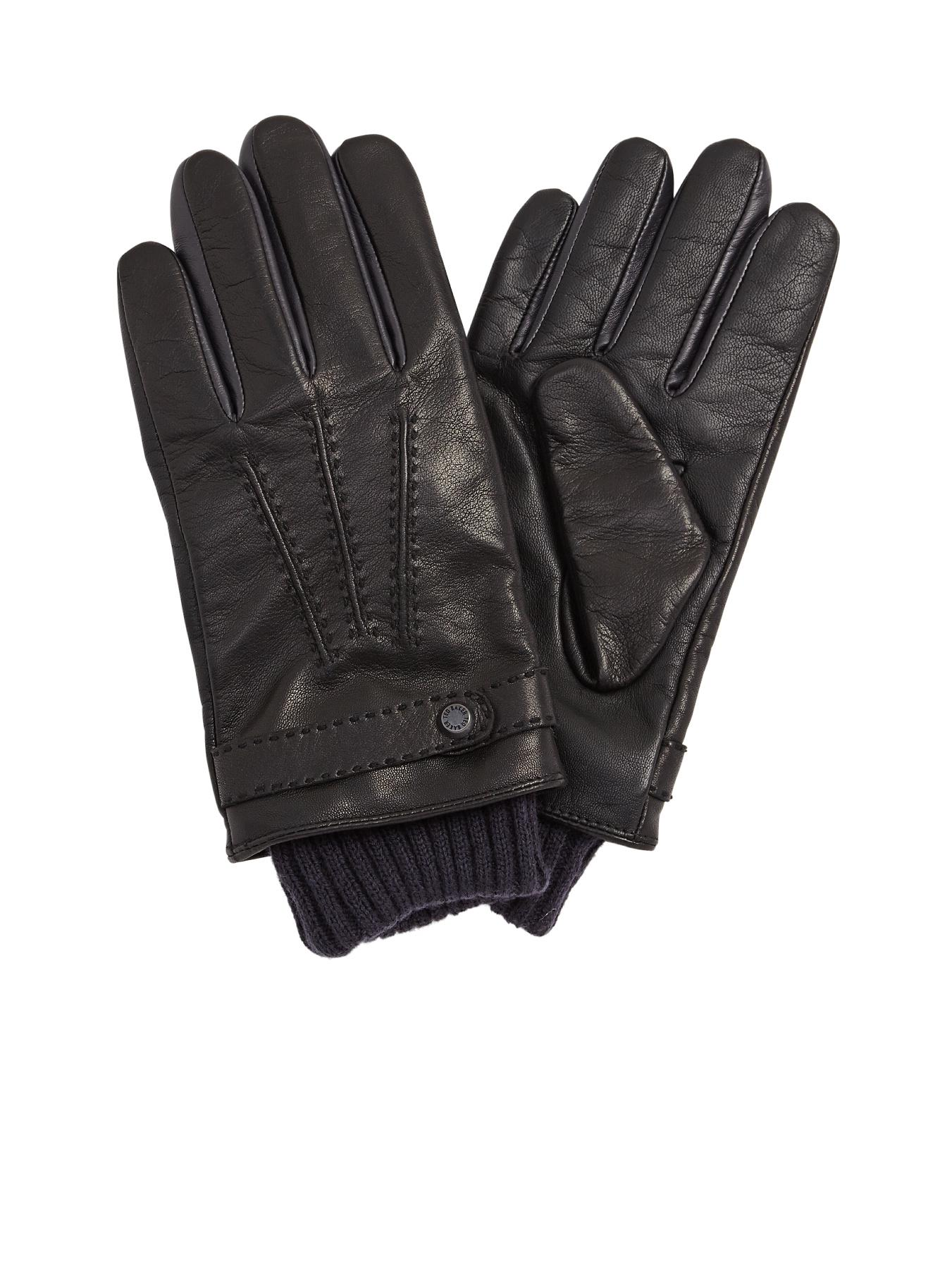 Ted Baker Leather Gloves - Black, Black